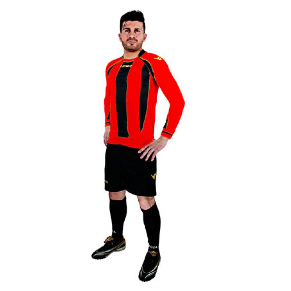 Fotbalový dres komplet LEGEA Dresda červeno-černý