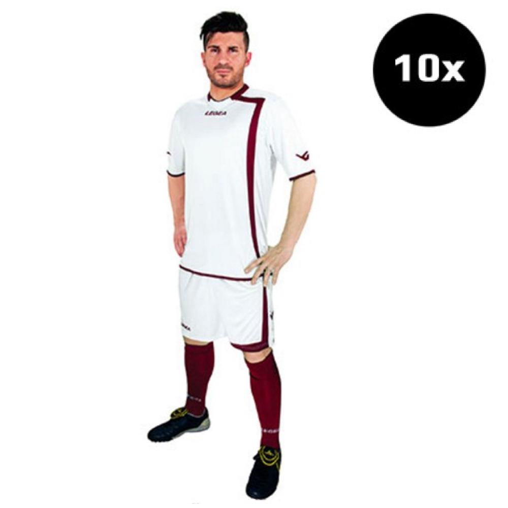Sada fotbalových kompletů LEGEA Grenoble bílý 10x