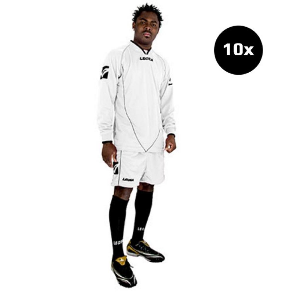 Sada fotbalových kompletů LEGEA Londra bílá 10x