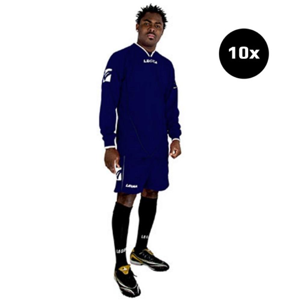 Sada fotbalových kompletů LEGEA Londra tmavě modrý 10x